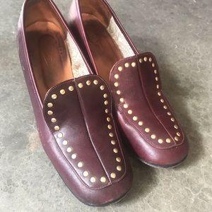 Vintage 60s Mod Oxblood Burgundy Loafers 8.5 M